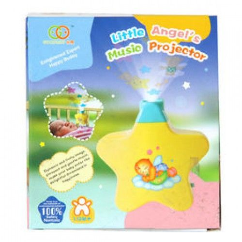 LITTLE ANGEL STAR LIGHT SHOW BABY MUSIC WALL PROJECTOR TOY FOR TODDLER BABY KIDS           The Little Angel's Star Light Show Musical Wall Projector creates a magical atmosphere for going to sleep. The enchanting stars project on the wall and the relaxing music reassures and soothes baby off to sleep.