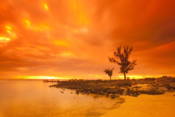 Fire up the sky   Mauritius