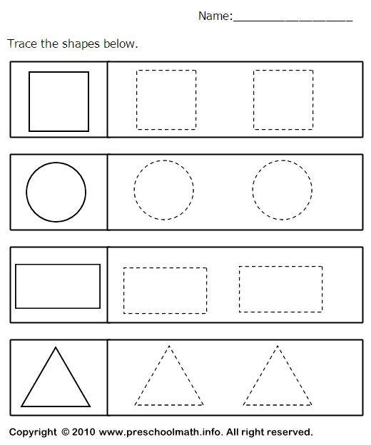 18 Shape Tracing Worksheets Shape Tracing Worksheets Shapes Worksheet Kindergarten Shapes Preschool Tracing shapes worksheets for
