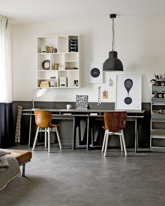 creative - office - desk - interior - nordic - scandinavian - lamp - type case - letterbak - interieur