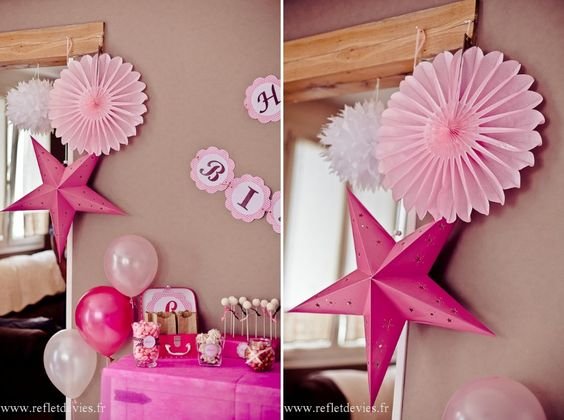 Friandises roses and d co on pinterest for Decoration 1 an fille