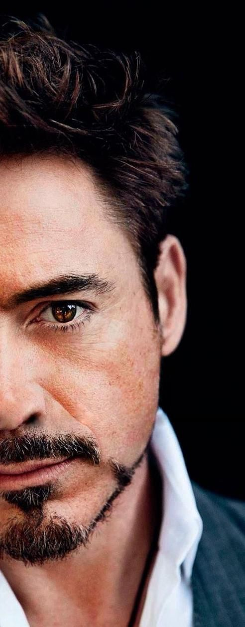 His beautiful brown eyes (well, one of them at least) ~ Robert Downey Jr.