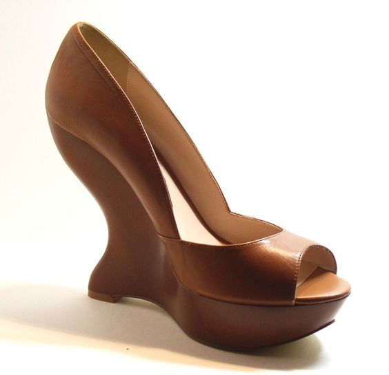 Truth Or Dare By Madonna Guya Platform Pump Shoes, Caramel, Size 11 http://stores.ebay.com/ECLECTIC-GOODIES-EG