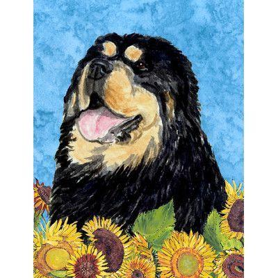 Caroline's Treasures Tibetan Mastiff 2-Sided Garden Flag