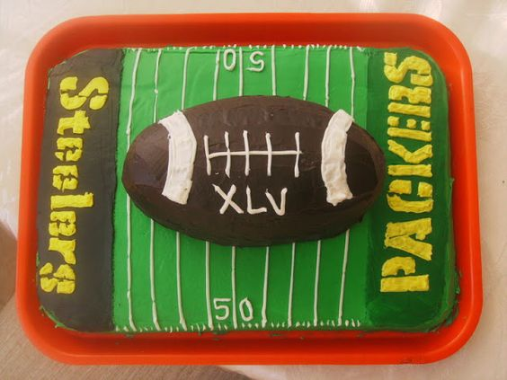 superbowl cake: Football Cakes, Receta Superbowl, Superbowl Xlv, Superbowl Cake, Bowl Ideas, Cake Ideas, Cake Andcakes, Superbowl Party, Couture Superbowl