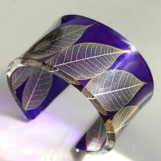 Purple Gold Roman Leaf Cuff