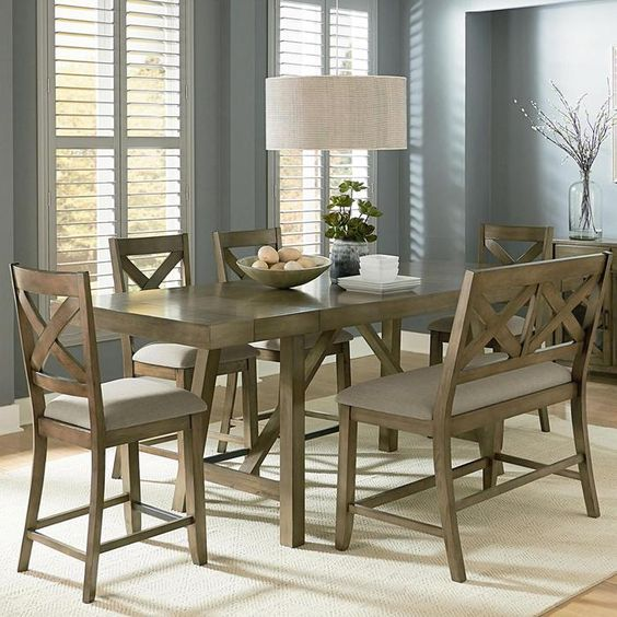 Omaha 6-Piece Counter Height Set   Nebraska Furniture Mart