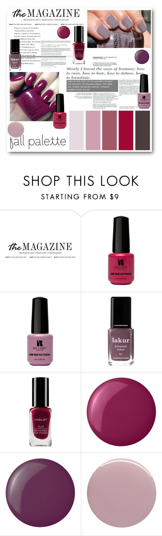 """M is for Manicure"" by bliznec ❤ liked on Polyvore featuring güzellik, Red Carpet Manicure, Londontown, Essie ve Nails Inc."