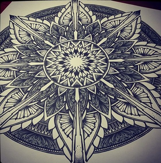 compass rose mandala tattoo art - Google Search
