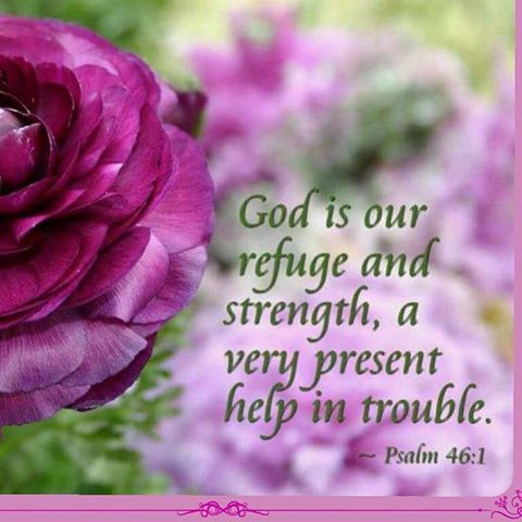 God is our refuge and strength, a very present help in trouble. ~ Psalm 46:1…