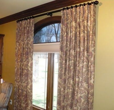 Pin By Kallie Bourgeois Fox On For The Home Curtains Pinterest Arched Windows Curtain