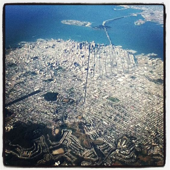 San Francisco #FromTheAir (Instagram - ms_ally)