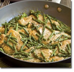 Chicken and Asparagus with Pesto Sauce