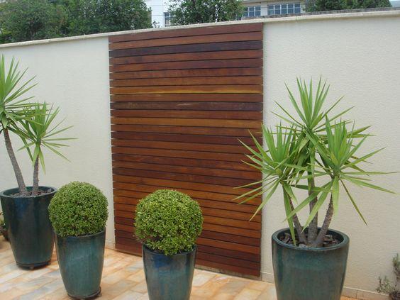 Painel de madeira ideias para a casa pinterest for Vaso piscina