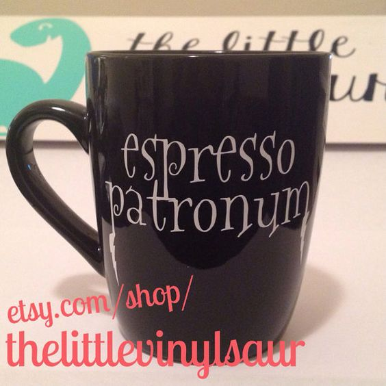 Espresso Patronum. coffee mug by thelittlevinylsaur on Etsy  #harrypotter