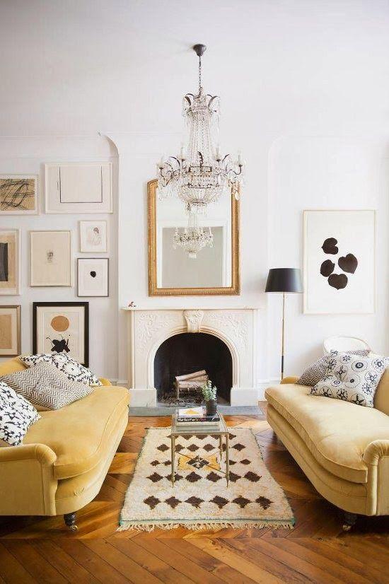 gold sofa: