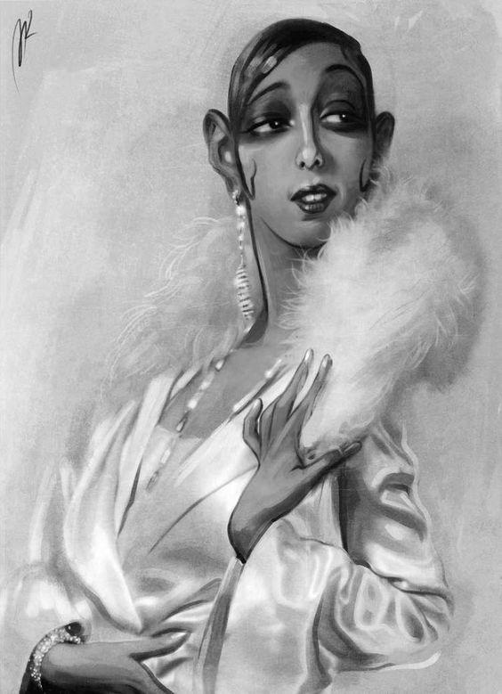 Josephine Baker Caricature by Marzio Mariani. #Celebrity #Caricatures #Oddonkey
