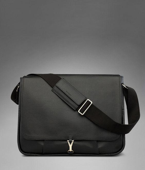 yves st laurent mens bags - Yves Saint Laurent Large YSL Ycon Messenger Bag in Black Textured ...