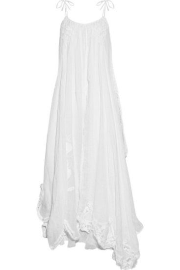 30 of the Best Beach Wedding Dresses For Any Bride-to-Be: For the low-maintenance femme.    Emamó Poeme Crocheted Cotton-Blend Muslin Maxi Dress ($845)