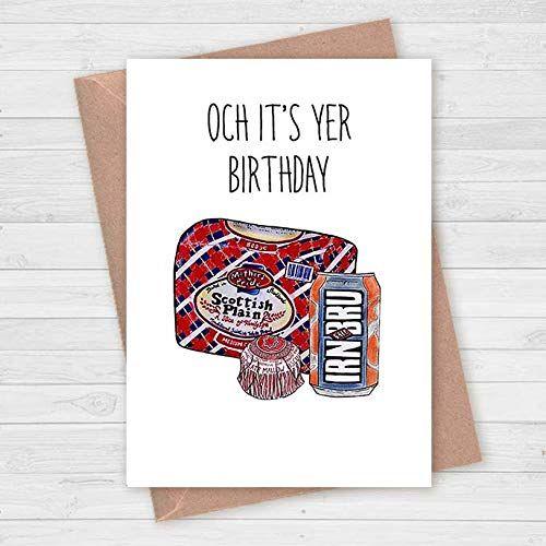 Scottish Birthday Card Irn Bru Mothers Pride Plain Bread Tunnocks Och It S Yer Birthday Amazon Co Uk Handma Irn Bru Birthday Cards For Men Birthday Cards