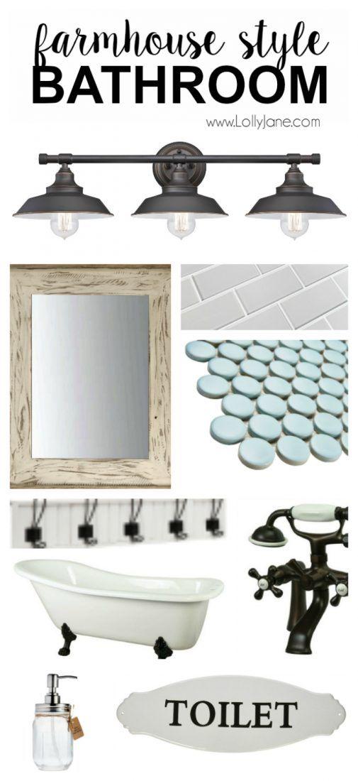 Farmhouse style decor powder farmhouse style bathrooms for Bathroom decor fixer upper