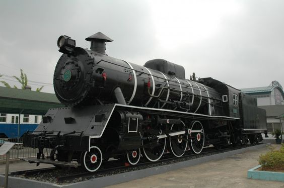 Dampflokomotive im Eisenbahnmuseum Seoul. Aufnahme am 5.6.2007