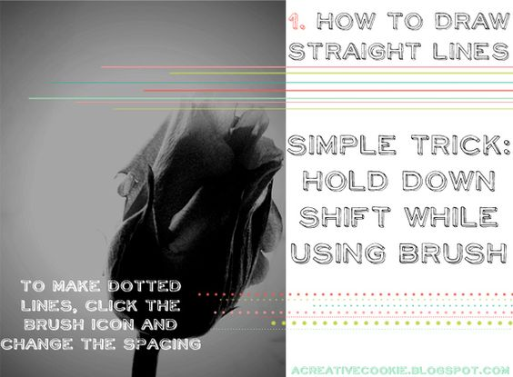 Drawing Straight Lines With Brush In Photo : 21 incredibly simple photoshop hacks everyone should know