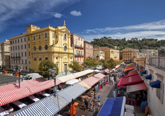 Cours Saleya, Nice, France.  A fantastic market where you can see and buy delicious foods, beautiful flowers and, on certain days, antiques.