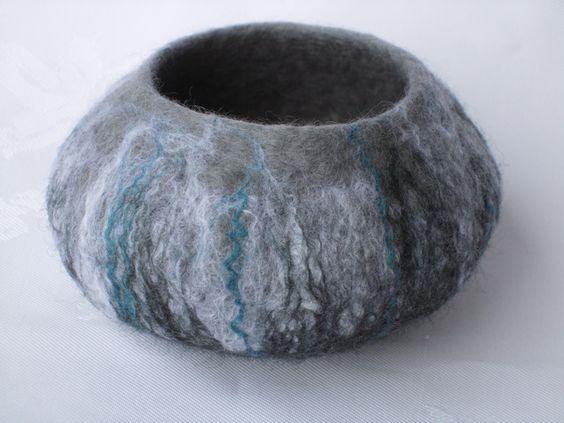 Felt Pots - handmade felt £15.00