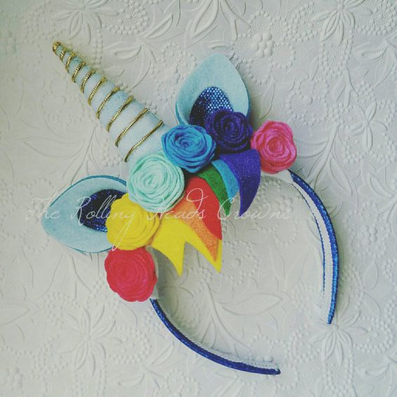 Hey, I found this really awesome Etsy listing at https://www.etsy.com/listing/254578111/rainbow-unicorn-headband