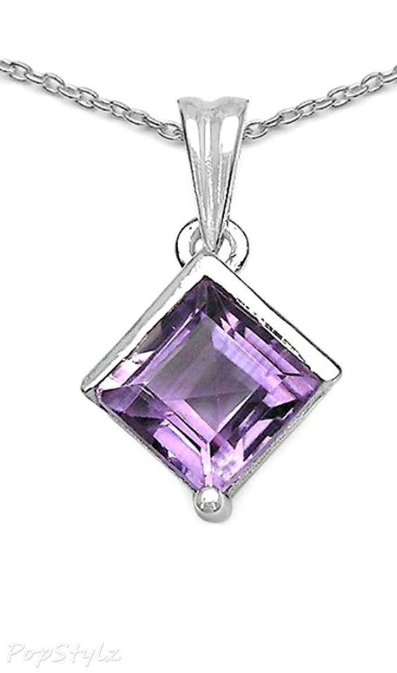 Genuine 1.50 Carat Amethyst Necklace