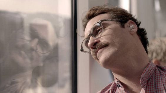 """""""I love the way you look at the world.""""Joaquin Phoenix is Theodore in """"Her"""""""