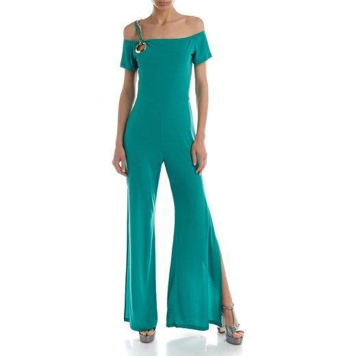 outlet catturare online in vendita Rinascimento Tuta Off-Shoulder rinascimento turchesi ...