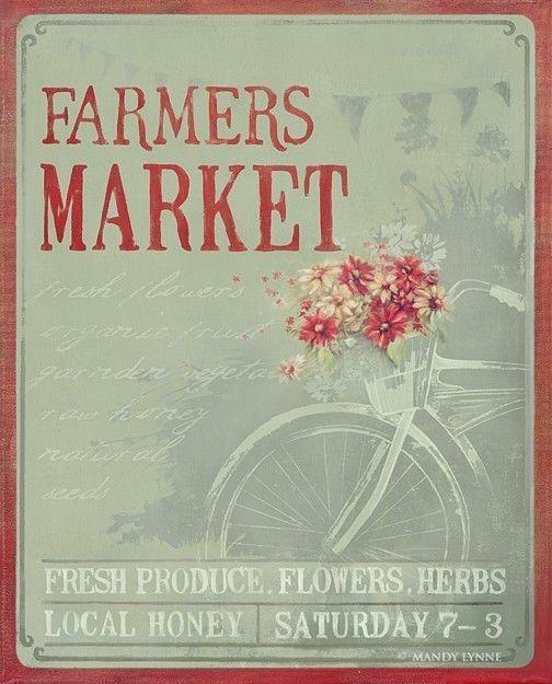 Farmers Market 20x24 Canvas Gallery Wrap. $155.00, via Etsy.