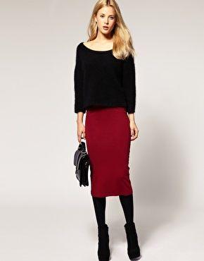 River Island High Waist Midi Tube Skirt | My Style | Pinterest ...