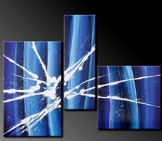 Cuadros Abstractos Modernos En Acrilico Texturados-relieves - $ 999,99 en MercadoLibre