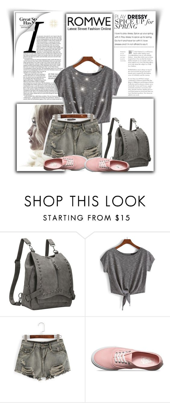 """romwe 5."" by igor89 ❤ liked on Polyvore featuring Vans and romwe"
