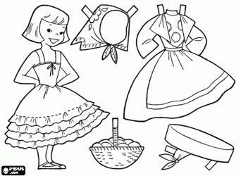 Dress up coloring pages Traditional costumes from around the