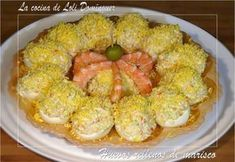 Huevos Rellenos De Marisco Receta De Lolidominguezjimenez Receta Huevos Rellenos Mariscos Recetas Recetas De Huevos Rellenos
