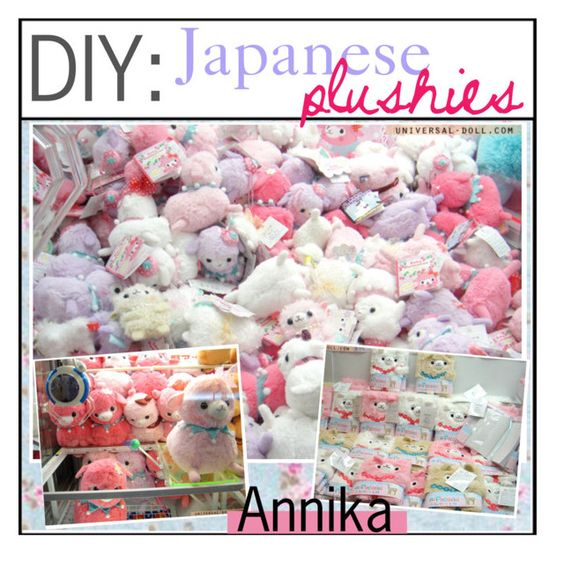 """""""DIY JAPANESE PLUSHIES"""" by im-just-tipsy ❤ liked on Polyvore"""