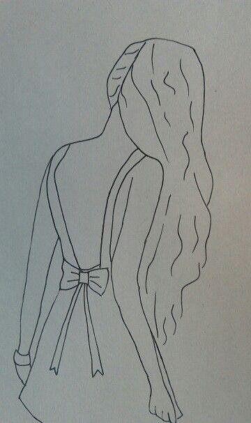 Tekenen meisje tekenen de achterkant van haar tekenen pinterest tekenen - Een kamer van een meisje ...