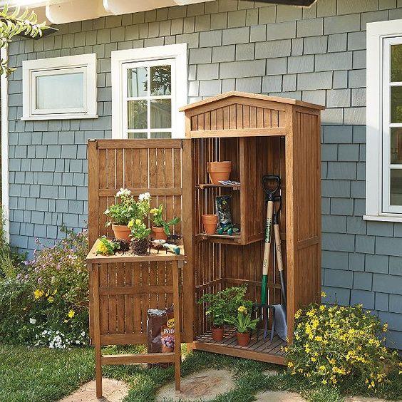 Teak Garden Storage #gardenhouseshed