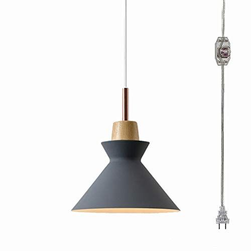 Anye 20ft Ul Transparent Plug In Cord Dark Grey Lamp Shade With On Off Dimmer Switch Modern Creative Chandelier A Bulb Pendant Light Grey Lamp Grey Lamp Shades