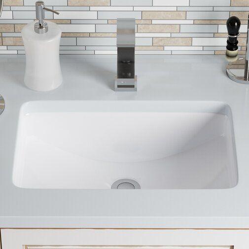 Mrdirect Vitreous China Rectangular Undermount Bathroom Sink With Overflow Reviews Undermount Bathroom Sink Porcelain Bathroom Sink Rectangular Sink Bathroom