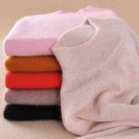 Women/'s Slim Knitted Half-Turtleneck Cashmere wool Jumper Pullover Soft Sweater