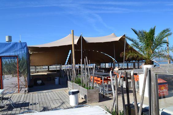 Stretchtent bij Safari Beachclub in Zandvoort