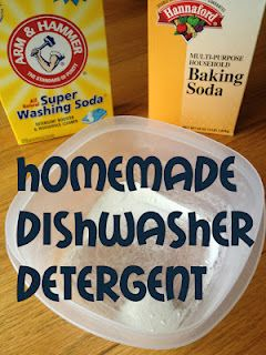 Homemade Automatic Dishwasher Detergent