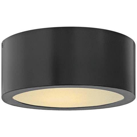 Hinkley Luna 8 Wide Satin Black Led Outdoor Ceiling Light 21g19 Lamps Plus Ceiling Lights Outdoor Ceiling Lights Porch Ceiling Lights