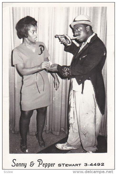 RP: 1950s SONNY & PEPPER Comedy Team RPPC Postcard Item number: 285421293  - Delcampe.com