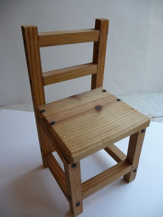 Vintage Wood Chair Vintage Wooden Chair Wood Home Decor Decorative Chair Only Handmade Small Scale Furniture Unique Home Decor.....to make for a prop
